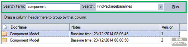 FindPackageBaselines-search-enterprise-architect-sparx