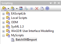 enterprise architect scripting view