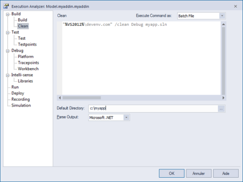 sparx enterprise execution analyzer config clean