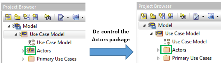 Enterprise Architect decontrol package