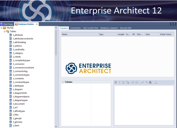 sparx enterprise architect 12 database builder